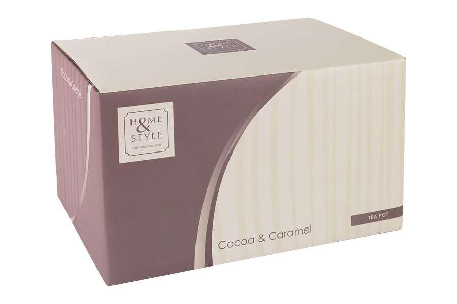 Чайник (карамель/какао) в подарочной упаковке Cocoa & Caramel HOME & STYLE HS4-G099-1G2G3S