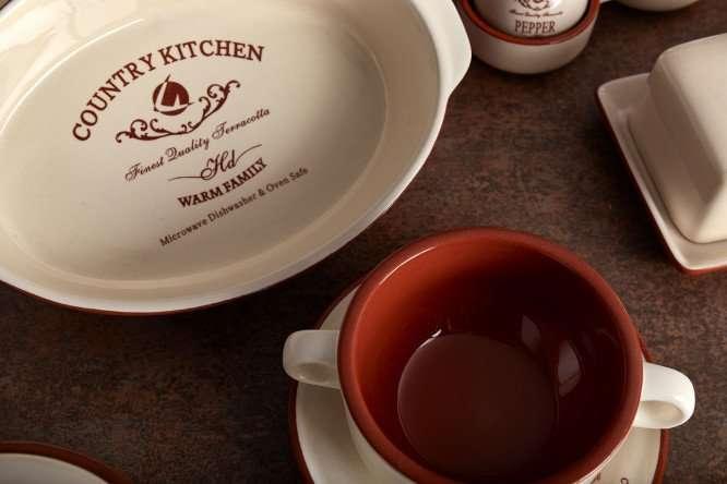 Чашка с блюдцем Кухня в стиле Кантри TERRACOTTA TLY314S2-CK-AL