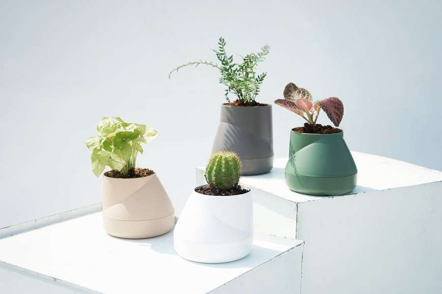 Горшок цветочный Hill Pot, маленький, серый QUALY QLX20001-GY