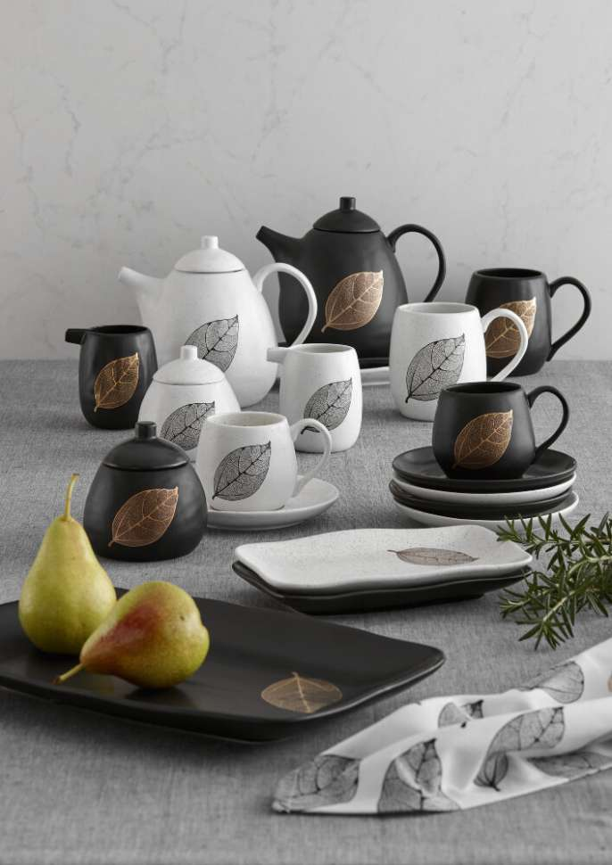 "Чашка с блюдцем ""Lantana Black&Gold"" ASHDENE 517200"