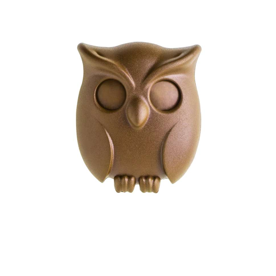 Держатель для ключей Night Owl коричневый QUALY QL10195-BN