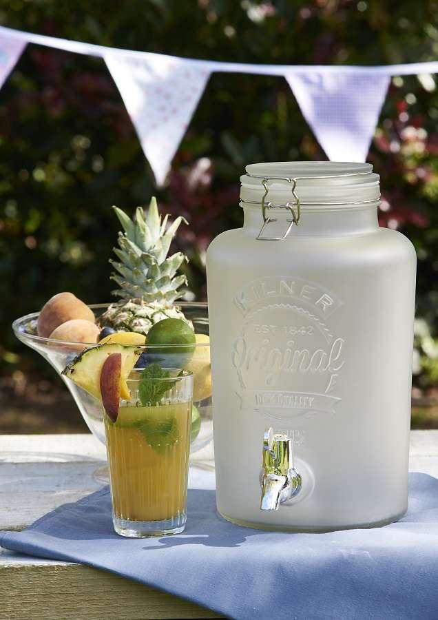 Диспенсер для напитков 5 литров белый (лимонадник) KILNER K_0025.844V