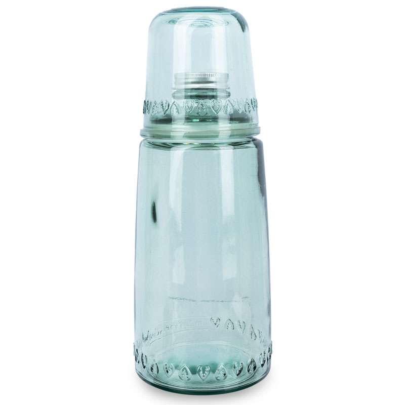 Бутылка для воды 1л со стаканом 0,22 л Natural  Water, зеленые SAN MIGUEL VSM-XRD8379-DB600