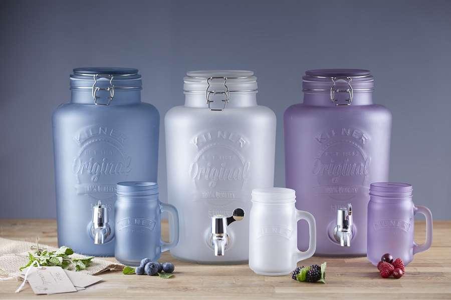 Диспенсер для напитков 5 литров голубой (лимонадник) KILNER K_0025.845V
