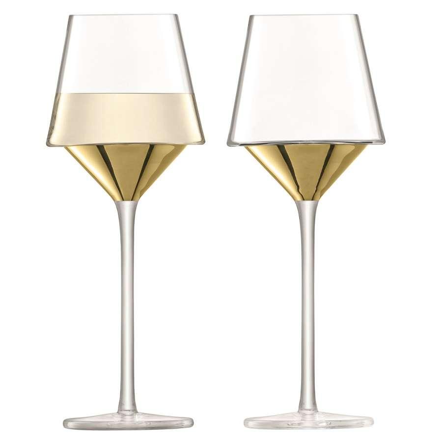 Набор из 2 бокалов для вина Space 350 мл золото  LSA G1487-13-358