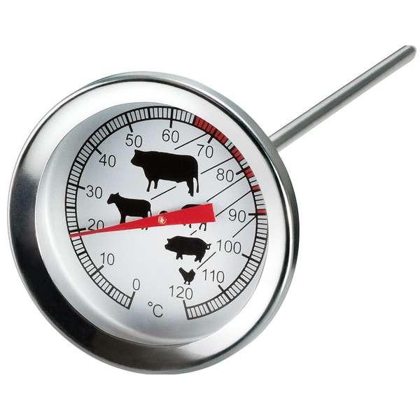 Термометр круглый для мяса MoHa 5х11см, сталь нержавеющая MOH-6980005