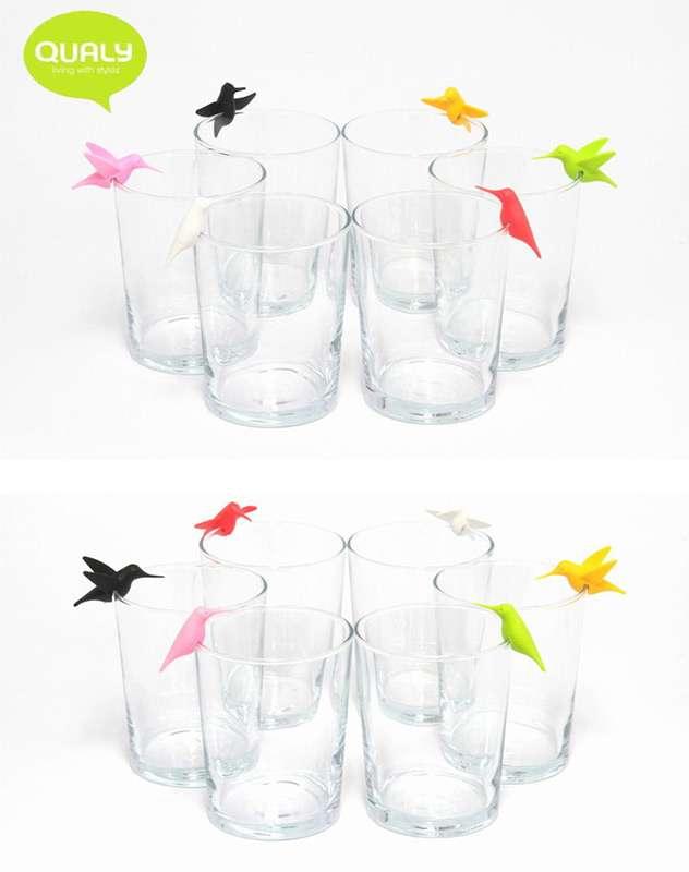 Маркеры для бокалов Humming Bird 6 шт. QUALY  QL10101-MX