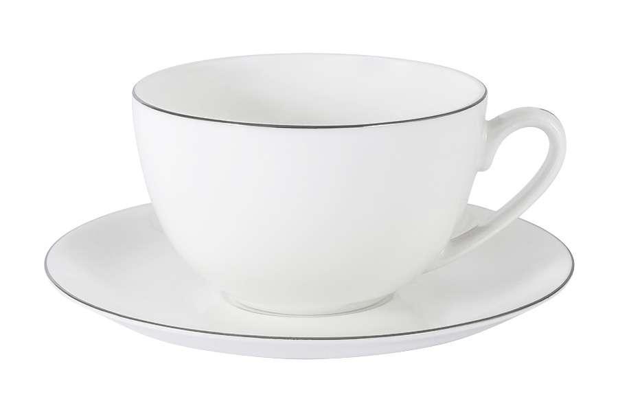 Чашка с блюдцем Арктика в подарочной упаковке ANNA LAFARG EMILY AL-103A-E11