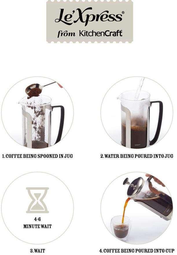 Френч-пресс для кофе на 12 чашек Le'Xpress KITCHEN CRAFT KCLXCAFE12CP