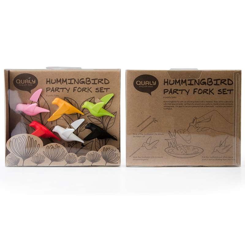 Набор для канапе Humming Bird 6 шт. QUALY  QL10103-MX