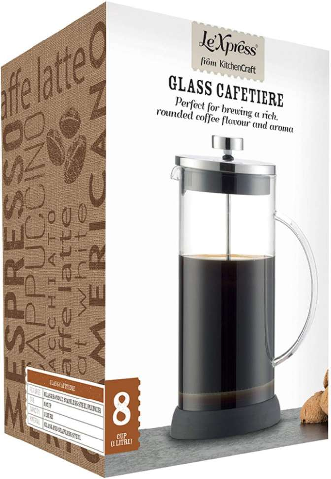 Френч-пресс для кофе на 8 чашек Le'Xpress KITCHEN CRAFT KCLXGCAFE8CP