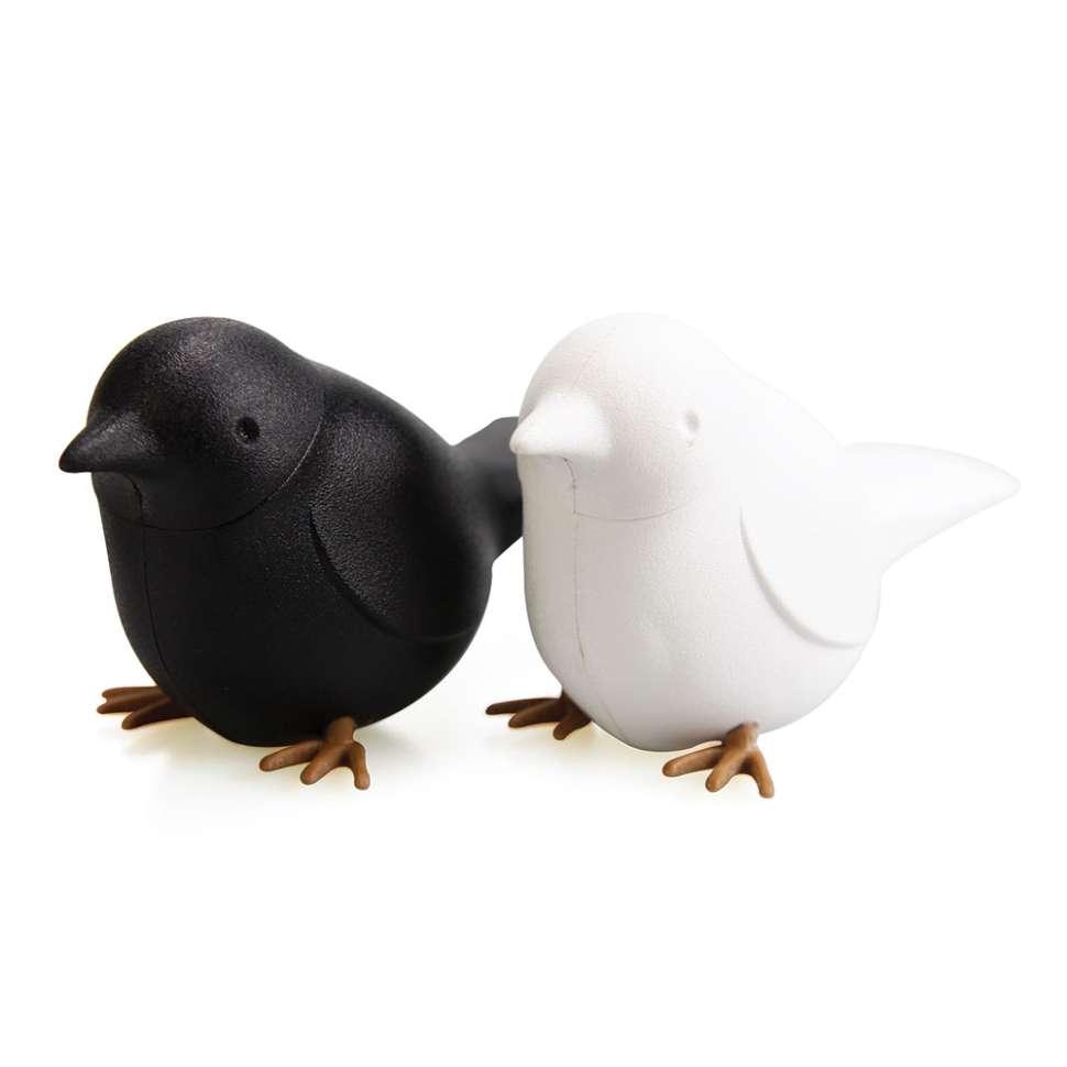 Набор для специй Sparrow чёрный-белый QUALY  QL10232-WH-BK