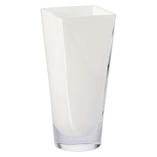 Ваза Krosno Элегант 27см, стекло, белая