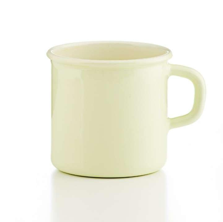 Кружка цилиндрическая 8 см, 0,375 л, пастель золотисто-жёлтый, PASTELL RIESS 0221-006