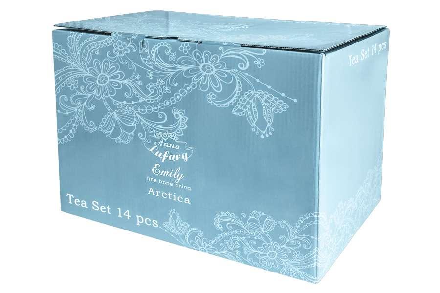 Чайный набор Арктика 14 предметов в подарочной упаковке ANNA LAFARG EMILY AL-114A-E11