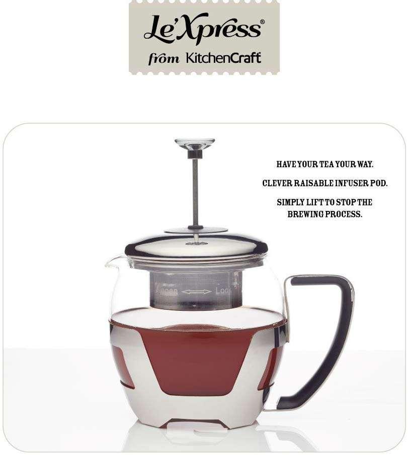 Заварочный чайник 1л Le'Xpress KITCHEN CRAFT KCLXTEAPOTINF