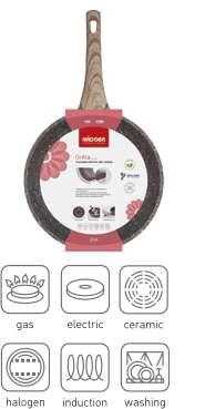 Сковорода блинная с антипригарным покрытием, 24 см, NADOBA GRETA  728621