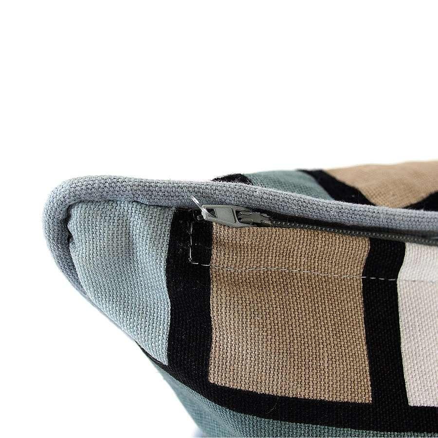 """Чехол для подушки с двусторонним принтом """"Гармония тайги"""", вышивкой и декоративной окантовкой TKANO TK18-CC0015"""
