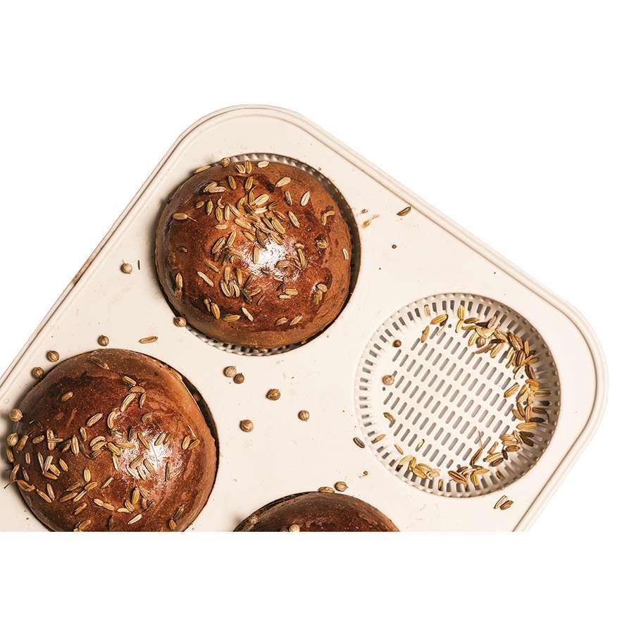 Форма для приготовления булочек и пирожных Burger Bread 20 х 34 см силиконовая SILIKOMART 21.001.13.0065
