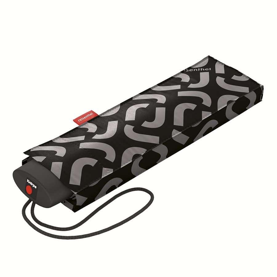 Зонт механический Pocket mini signature black REISENTHEL RT7054
