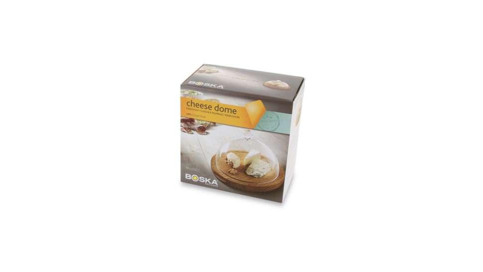 Блюдо для сыра с крышкой 25см (дуб, пластик) BOSKA BSK859002