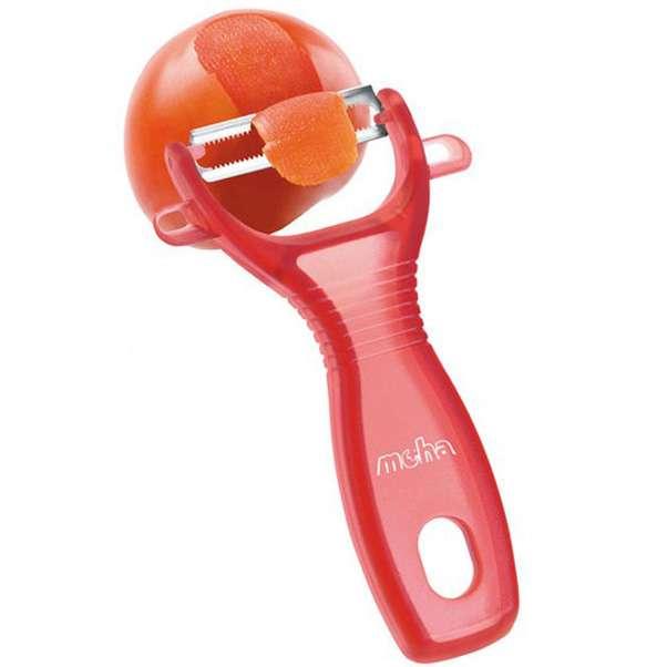 Овощечистка универсальная MoHa 13см, пластик, красная MOH-6945716-r
