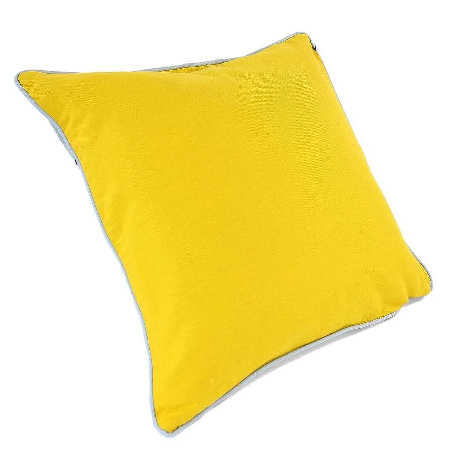 """Чехол для подушки с растительным орнаментом """"Ягоды тайги"""", вышивкой и декоративной окантовкой TKANO TK18-CC0016"""