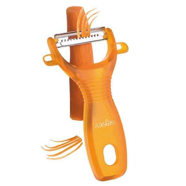 """Овощечистка универсальная MoHa 13см для резки """"соломкой"""" (оранжевая) MOH-6945720-o"""