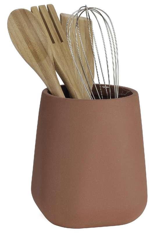 Органайзер с кухонными принадлежностями Brown Ceramic ANDREA HOUSE CC67120
