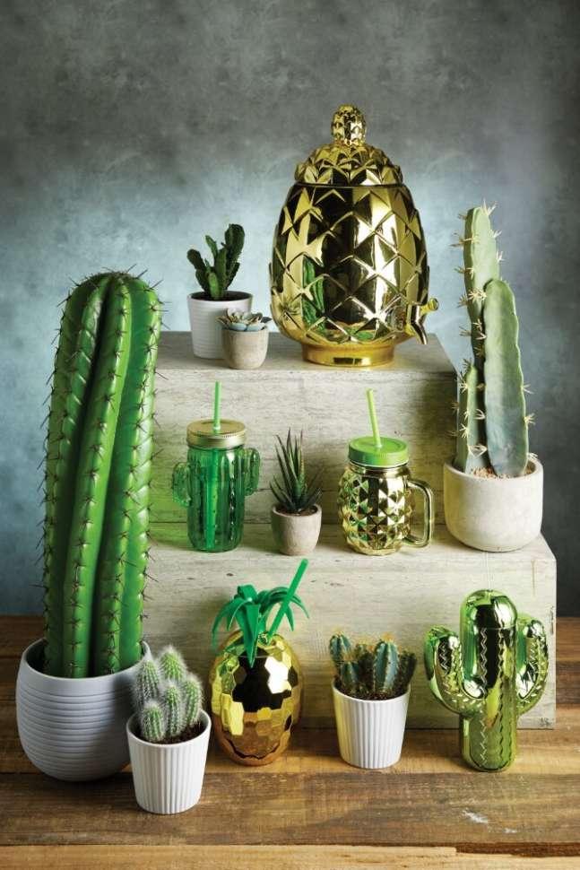 Кружка с соломинкой Cactus BarCraft KITCHEN CRAFT BCCACTUS
