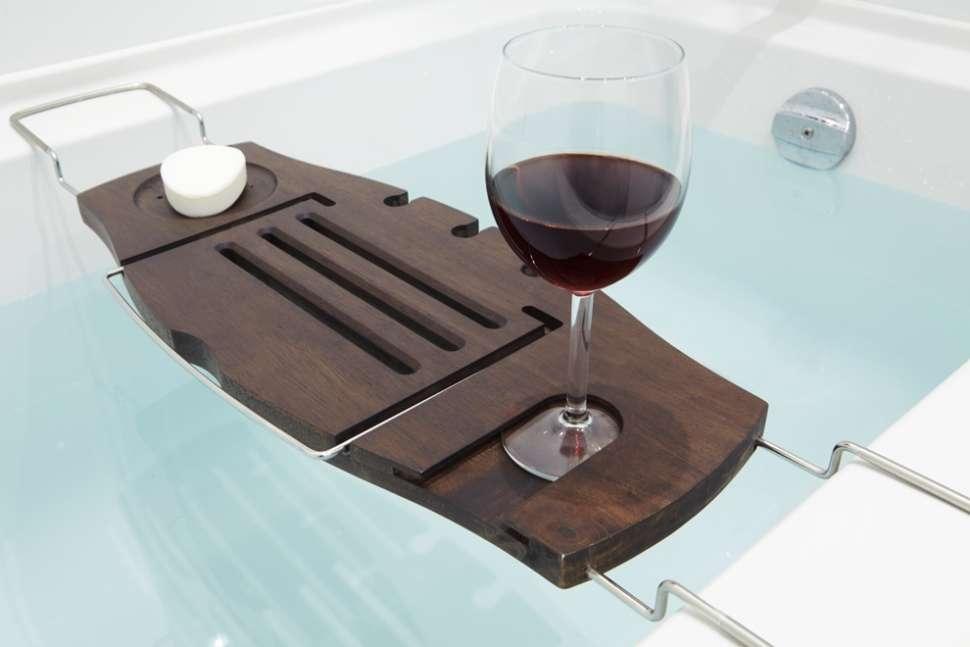 Полка для ванной Aquala орех UMBRA 020390-656