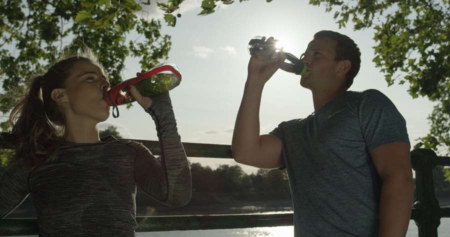 Эко-бутылка Eau Good Duo с фильтром зеленая BLACK+BLUM EGD002