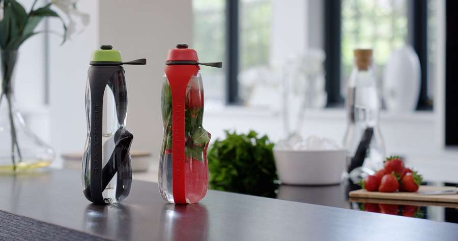 Эко-бутылка Eau Good Duo с фильтром красная BLACK+BLUM EGD004