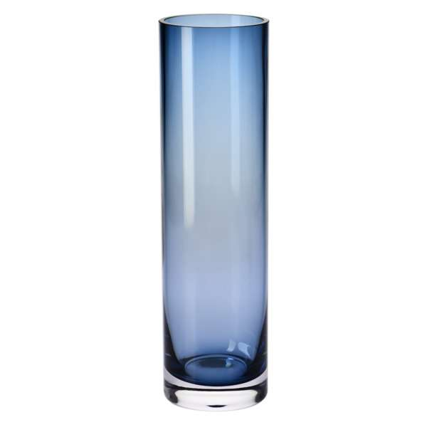 Ваза KROSNO Tuba 37см, стекло, синяя