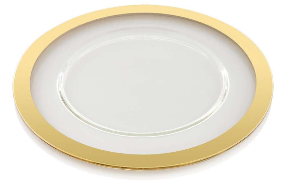 Блюдо широкое плоское 32 см AVENUE GOLD IVV 7610.33