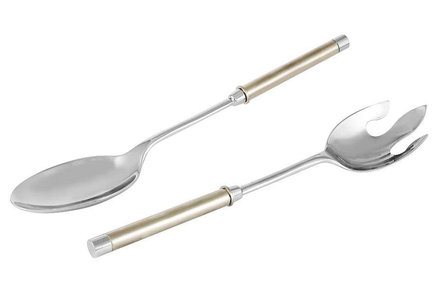 Набор сервировочный салатный Перле: ложка, вилка REGENT RE-C1081C