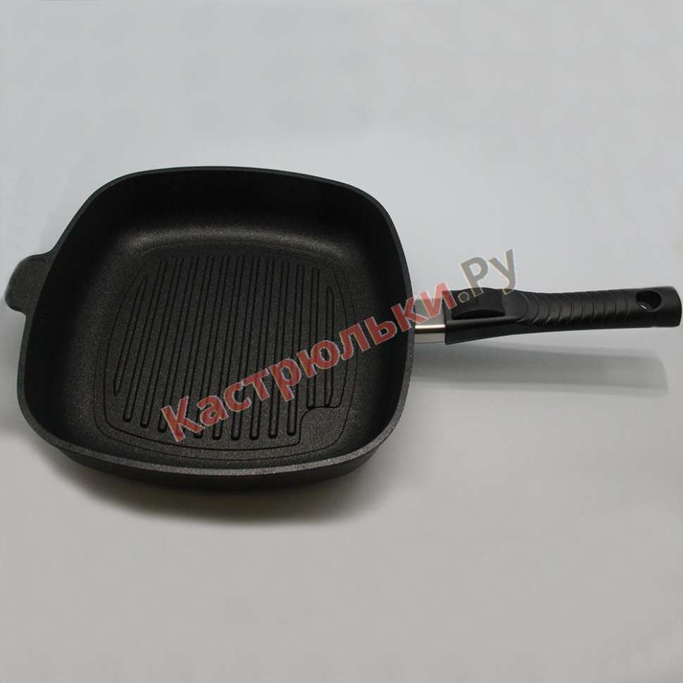 Сковорода-гриль квадратная со съемной ручкой BAF Gigant Newline Induction 26x26 см 5001 16 26 0c-I