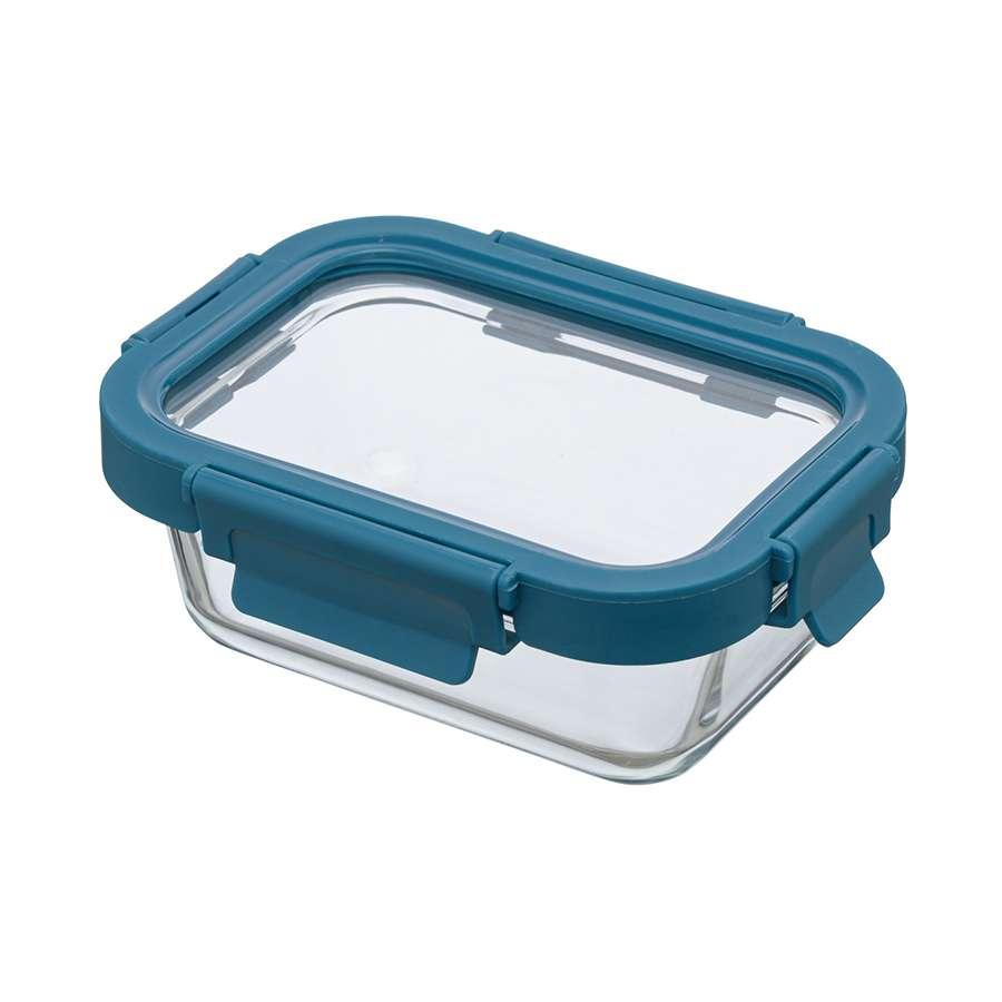 Контейнер для еды стеклянный 370 мл темно-синий SMART SOLUTIONS ID370RC_7708C