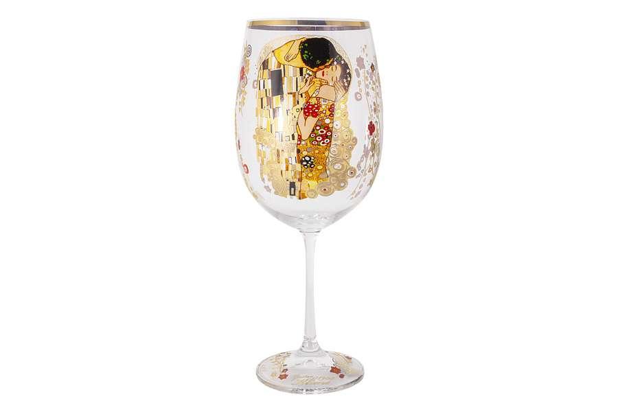 Бокал для вина Поцелуй (Г.Климт) в подарочной упаковке CARMANI CAR841-3501