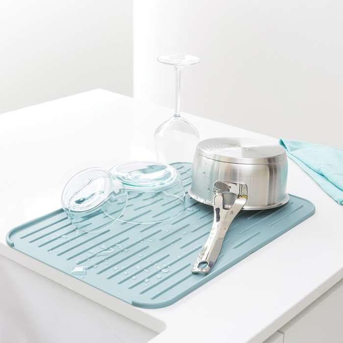 Силиконовый коврик для сушки посуды, Мятный Brabantia 117480