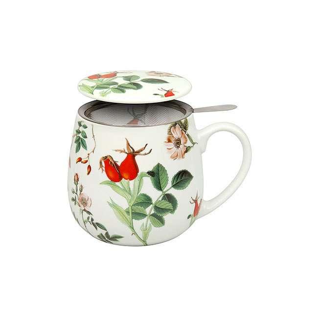 """Кружка заварочная с ситечком и крышкой """"Мой любимый чай с шиповником"""" KONITZ 11 5 343 2137"""