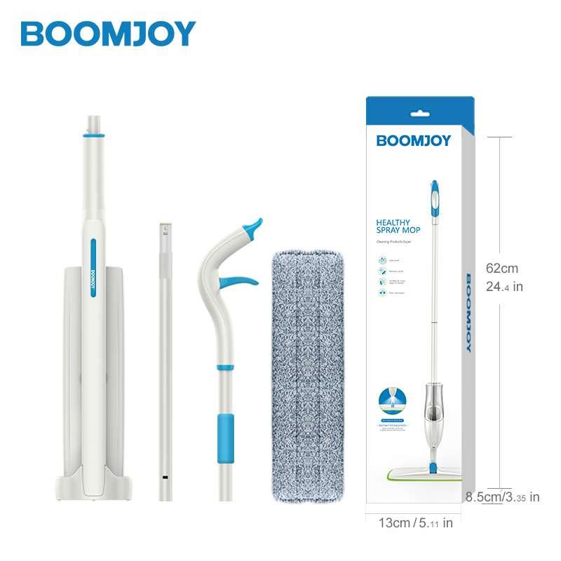 Швабра с вертикальным отжимом и распылителем BOOMJOY JY8326