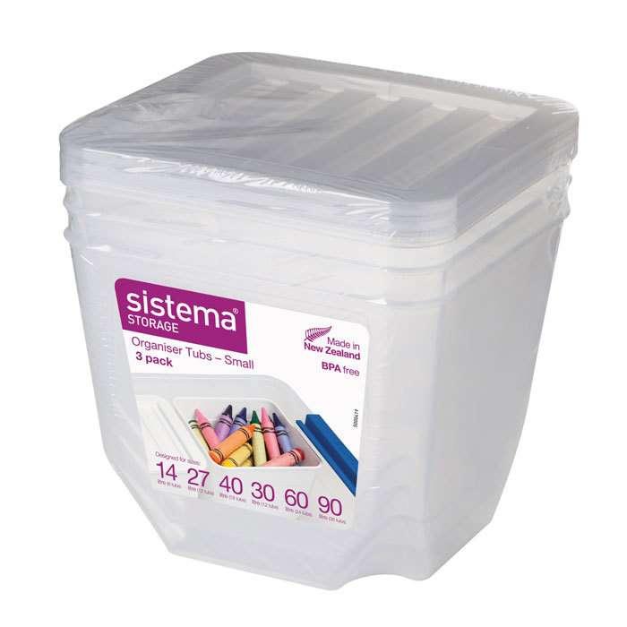 Набор органайзеров 1.3 л (3 шт)  SISTEMA Storage 70013