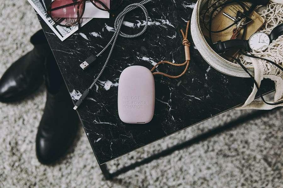 Аккумулятор внешний toCHARGE, светло-розовый KREAFUNK Kfsk62