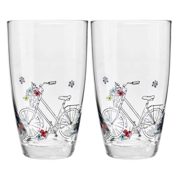 """Набор стаканов для воды Krosno """"Велосипед"""" 450мл, 2 шт"""