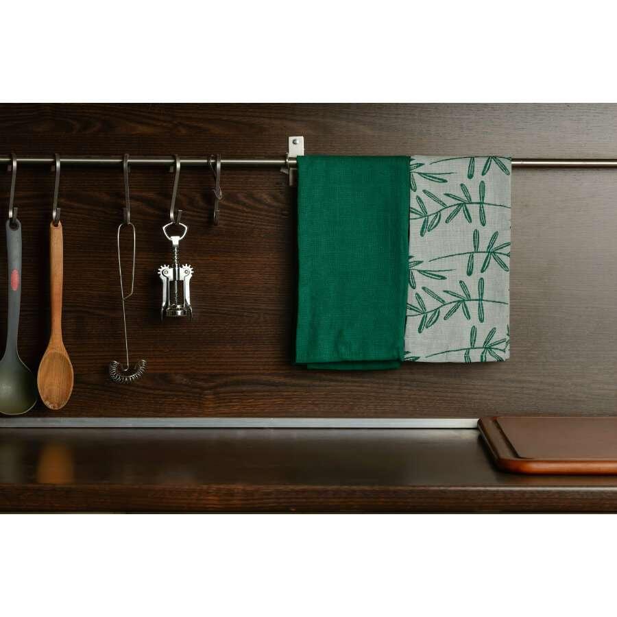 """Набор кухонных полотенец с графичным принтом """"Папоротник"""" TKANO TK18-TT0001"""