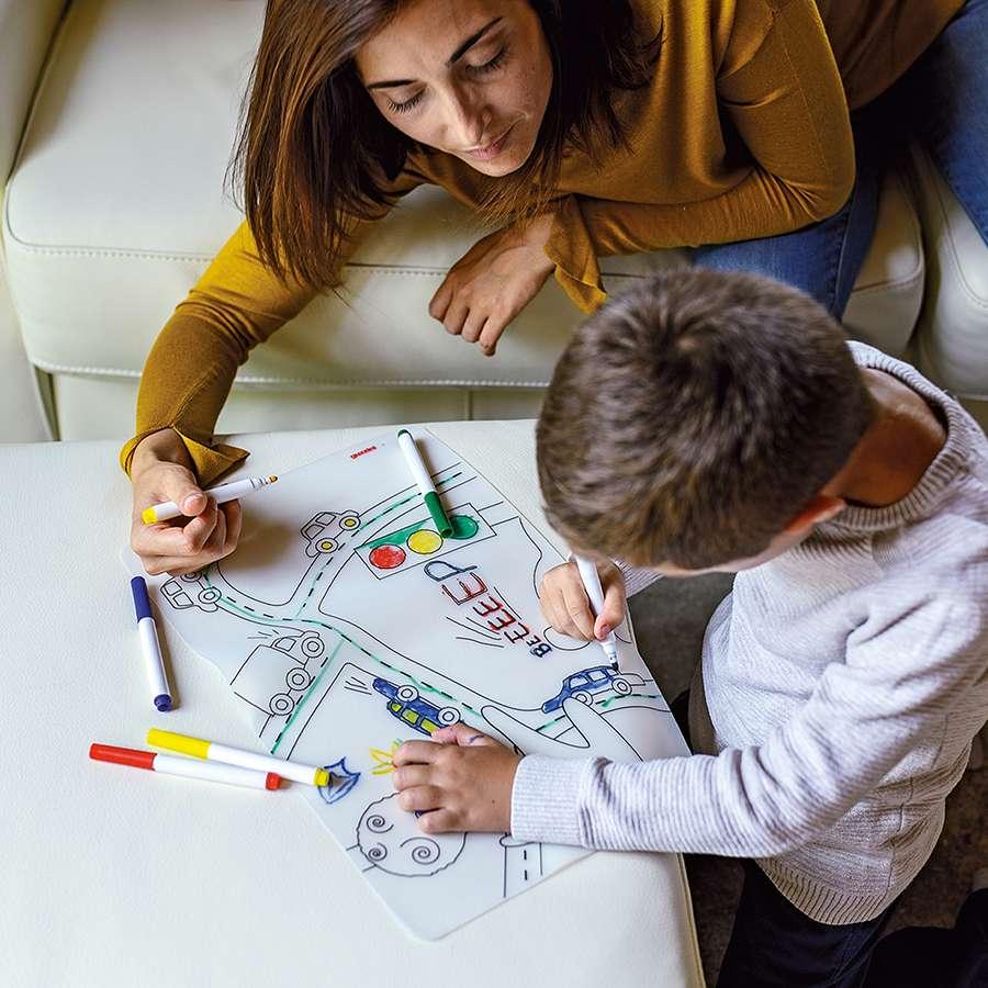 Набор из коврика-раскраски и 4 маркеров Bimbi GUZZINI 22609452