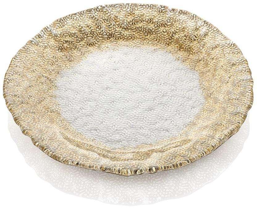 Тарелка широкая плоская 26 см Gold TRICOT IVV 7901.3