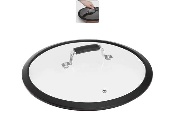 Стеклянная крышка с силиконовым ободом, 28 см, серия LOTA, NADOBA 751411