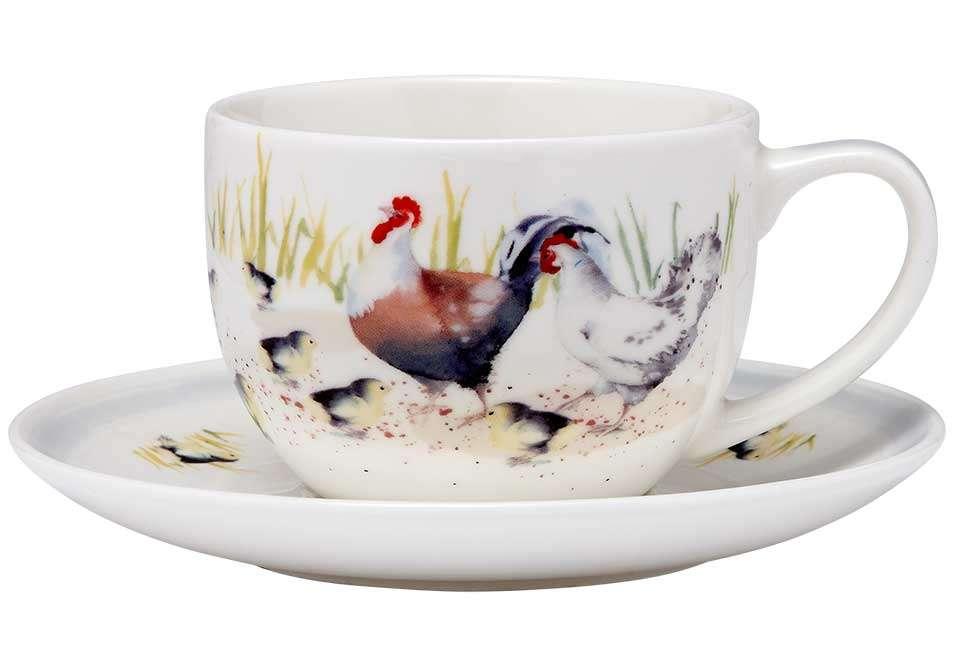 "Чашка с блюдцем ""Country Chickens"" ASHDENE 517287"